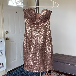Windsor rose gold sequined dress